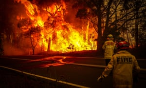Firefighters were battling more than 200 fires as a heatwave engulfing Australia pushed temperatures in the south into the mid-40s