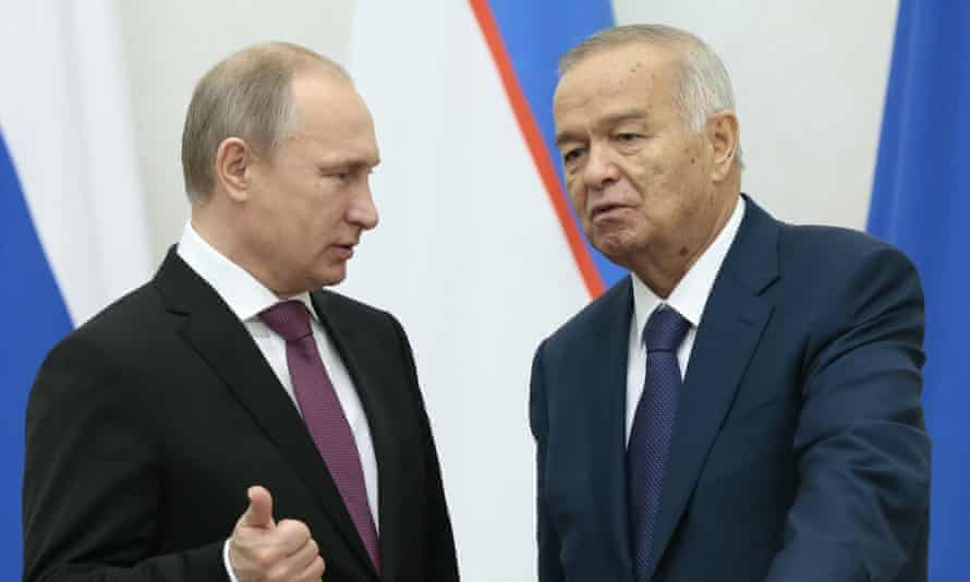 Islam Karimov and Vladimir Putin.