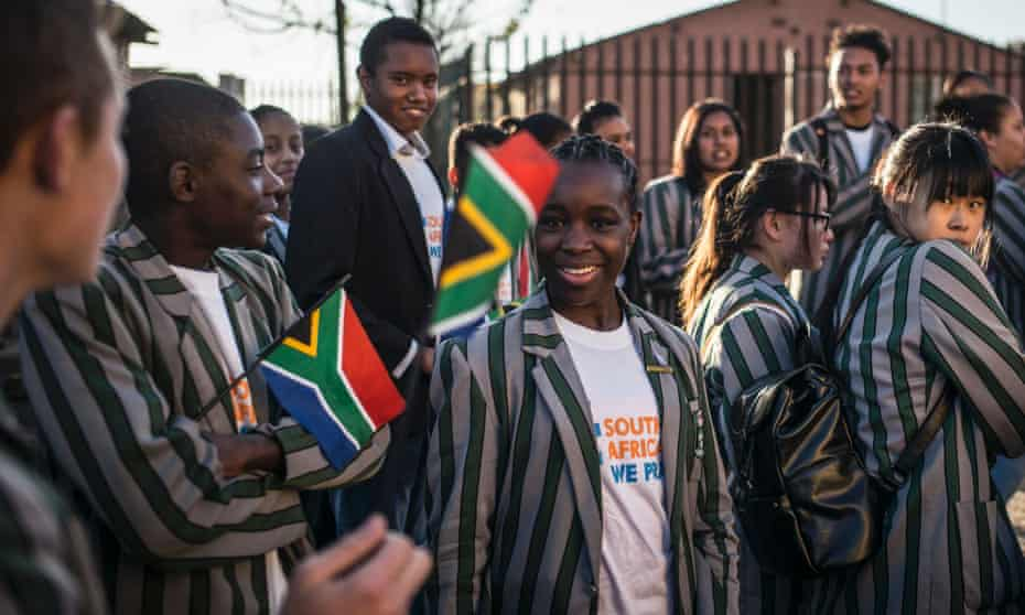 South African students gather in Soweto on 11 June 2016 at a march held to commemorate the 40th anniversary of the Soweto Uprising.