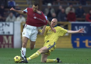 Kevin Ellison playing for Stockport against Burnley in 2001, aged 22.