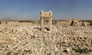 Barbaric onslaught … the destroyed Temple of Bel in Palmyra, Syria.