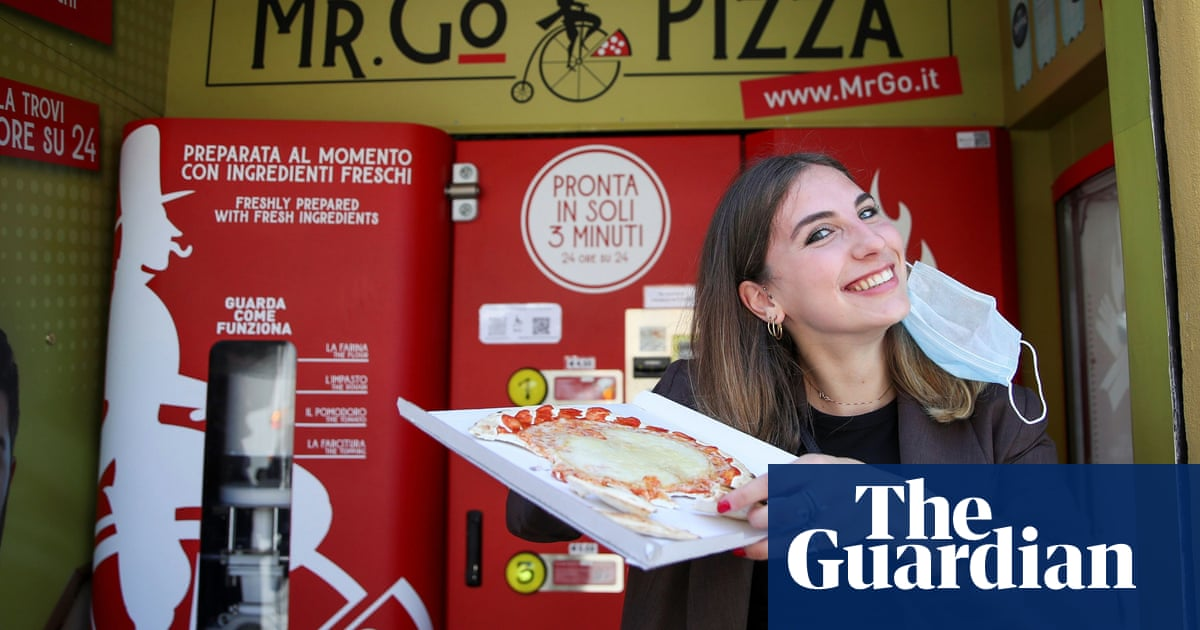 Dough to go: Rome's first pizza vending machine gets mixed reviews