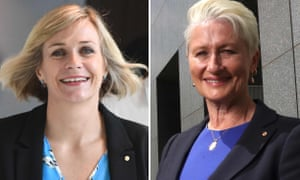 Zali Steggall (left), who is running against Tony Abbott in the federal Sydney seat of Warringah and Dr Kerryn Phelps, who holds the seat of Wentworth in the eastern suburbs.