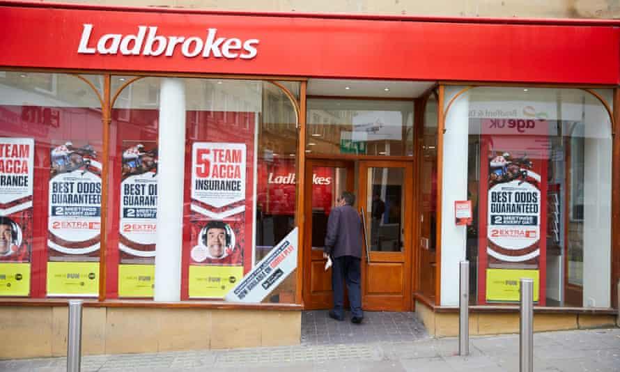 A Ladbrokes betting shop
