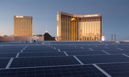 The Mandalay Bay convention center will become the biggest rooftop solar array in the US.