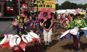 'A lifetime ambition achieved': Mike Gunning meeting the Glastonbury flower fairies in 2015.