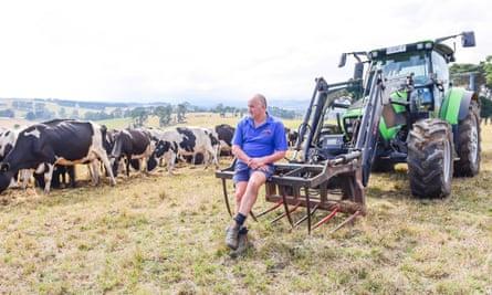 Dairy farmer Joe Meggetto on his farm