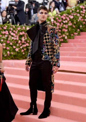 Suited and booted: Darren Criss at the 2019 Met Gala.