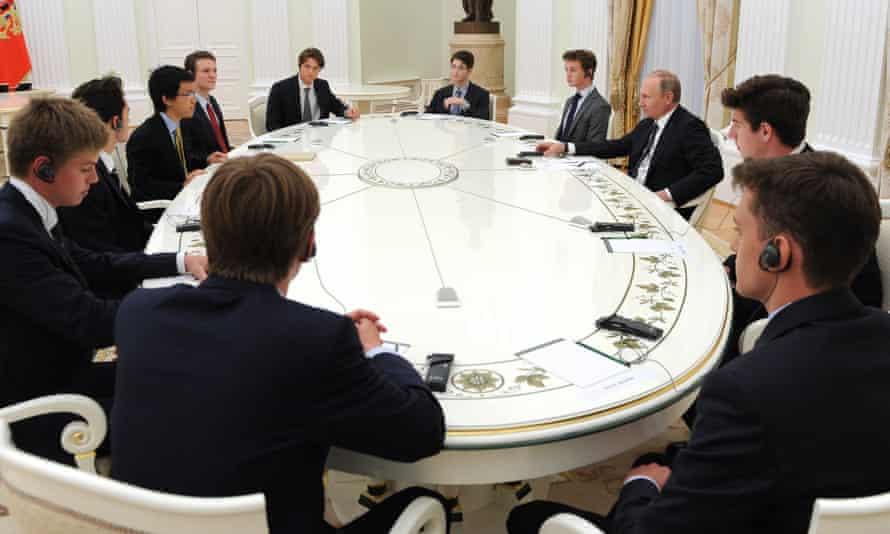 Eton pupils meet Vladimir Putin.
