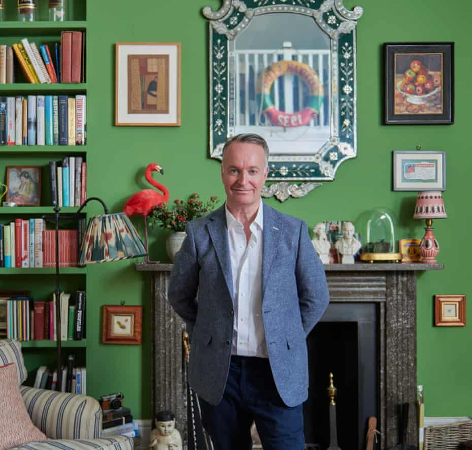Andrew O'Hagan photographed at home in Primrose Hill, London.