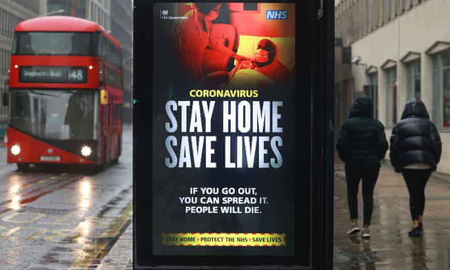 A public health notice in central London