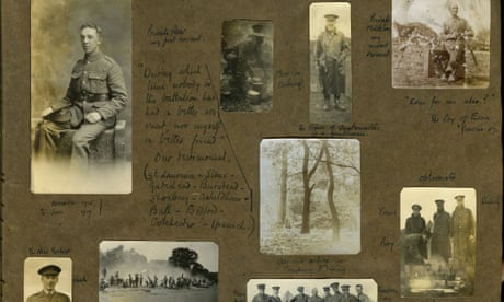 Long-lost photo album of first world war soldier given to his family