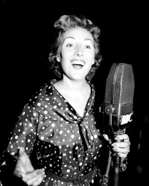 Vera Lynn rehearsing for the radio show 'Sincerely Yours' on 30 July 1956