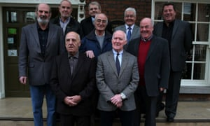 Some of the surviving 'hooded men' pictured in Dublin in 2014