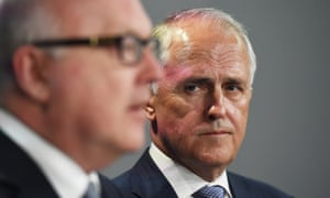 Attorney general George Brandis and Malcolm Turnbull