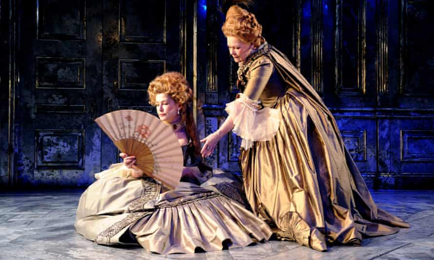 Rosamund Pike, left, and Judi Dench in the Donmar Warehouse production of Madam de Sade at Wyndham's theatre, 2009. Stephanie Arditti was costume supervisor.