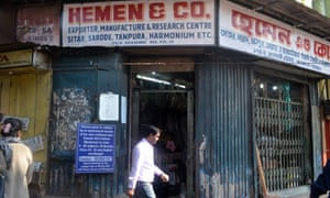 'We don't look at this job as a business' ... Hemen & Co in Kolkata, India. Makers of traditional sitars, they supplied them to George Harrison and Ravi Shankar.