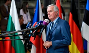 Barnier has disarmed critics with his courteous and careful public statements, powerpoint slides, and diligent travel around 27 national capitals and the European parliament.