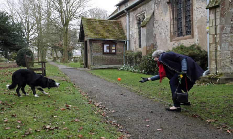 Theresa May and dog