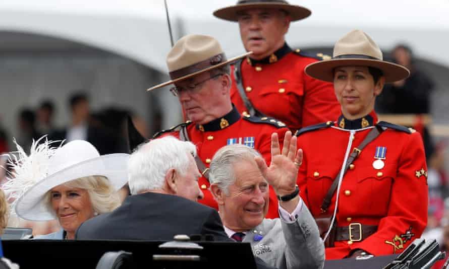 Prince Charles, Camilla and the governor general, David Johnston.
