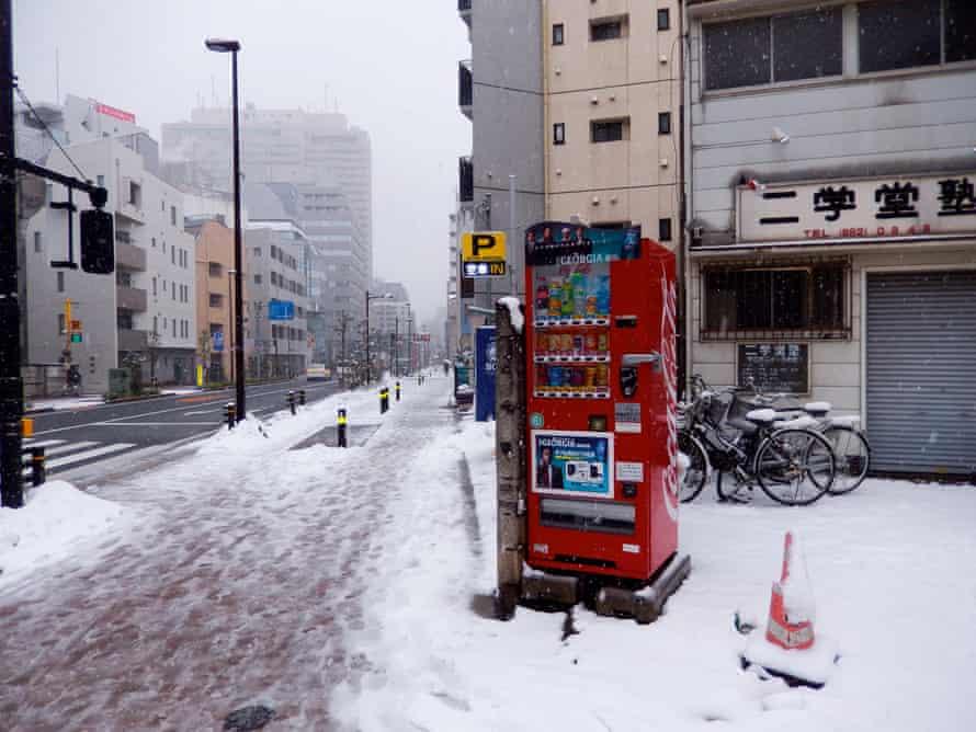 A vending machine in the snow … Daido Moriyama, Tokyo Color 2008-2015
