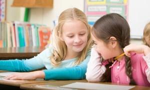 School children talking