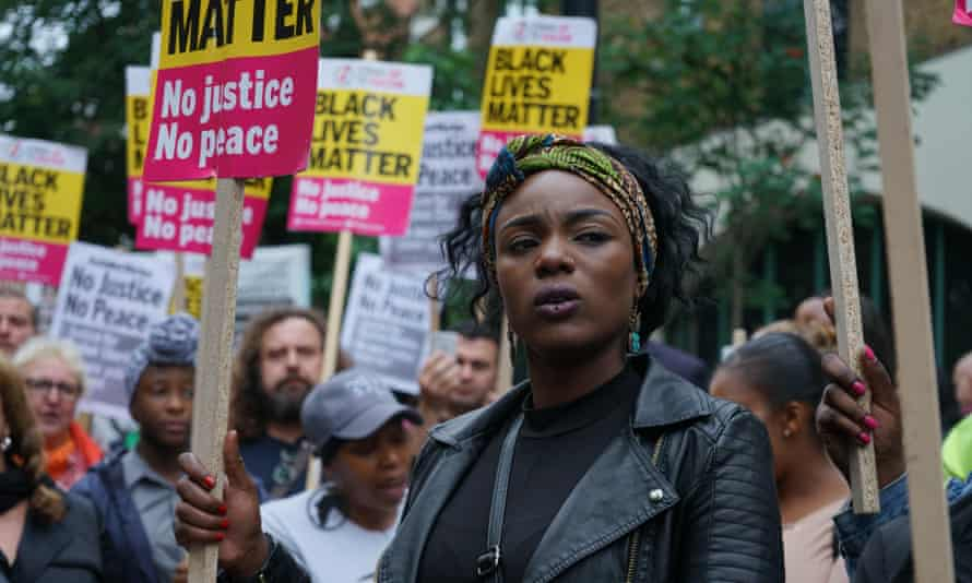 A protest over police violence against black communities.