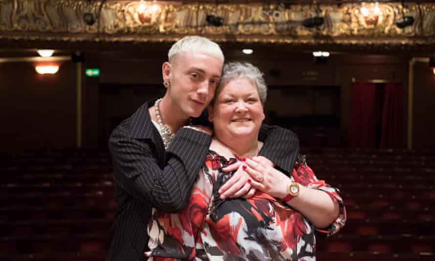 Jamie Campbell with his mother, Margaret