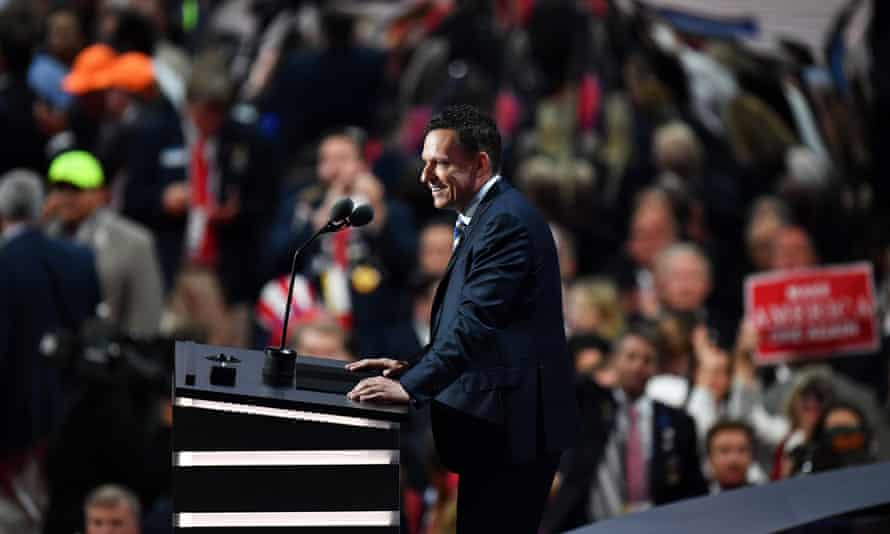Peter Thiel speaking at the Republican convention in July.