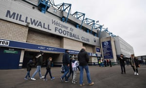 Millwall supporters arrive at The Den ahead of the club's FA Cup fourth-round tie against Watford last weekend. The hosts deservedly won 1-0