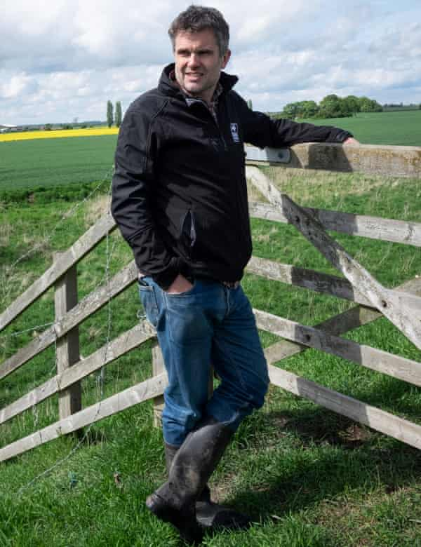 Craig Bennett, chief executive of the Wildlife Trusts, in Lincolnshire.