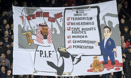 Police to take no action over Crystal Palace fans' Newcastle banner