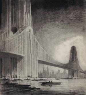 Skyscraper bridges, Raymond Hood, 1925