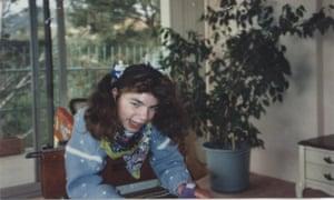 Author Holly Kearl's older sister, Heidi, in 1991