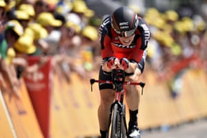 Australia's Rohan Dennis sets the pace in the 13.8km individual time-trial.