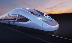 Siemens concept image for HS2 train