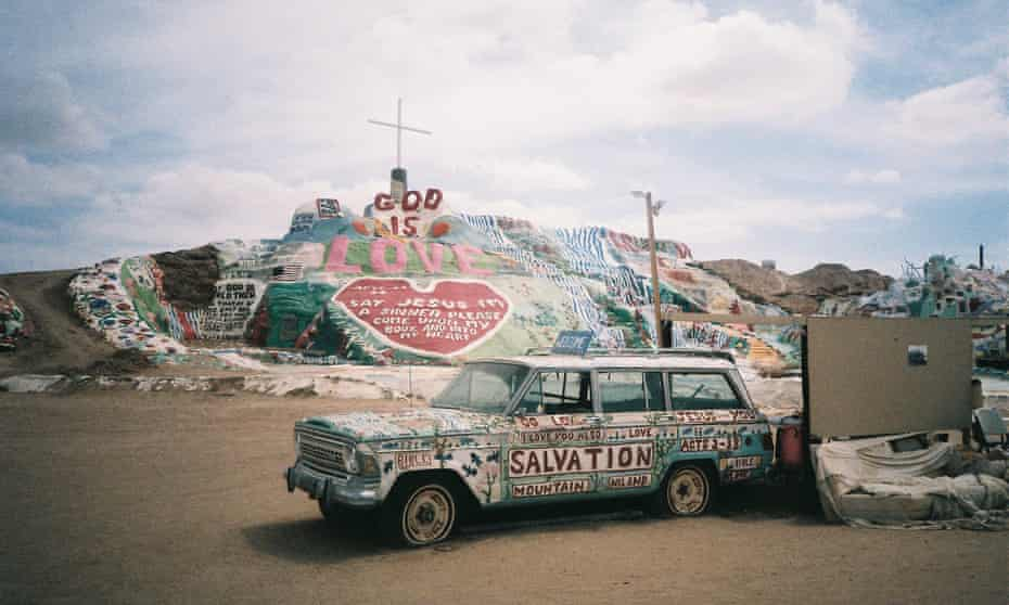 The trip starts here … Salvation Mountain in the California Desert.