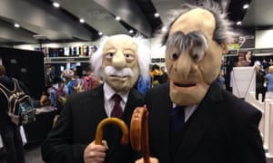 Waldorf and Statler cosplayers at Oz Comic-Con Melbourne on Saturday.