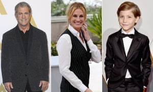 Who dat pope ... Mel Gibson, Julia Roberts and Jacob Tremblay