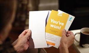 NS&I premium bonds letter announcing someone has won