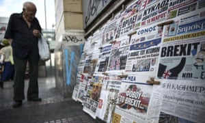 a newspaper kiosk in athens