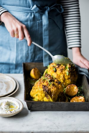 Anna jones recipes for whole roast squash and baked cauliflower turmeric and coconut baked cauliflower forumfinder Gallery