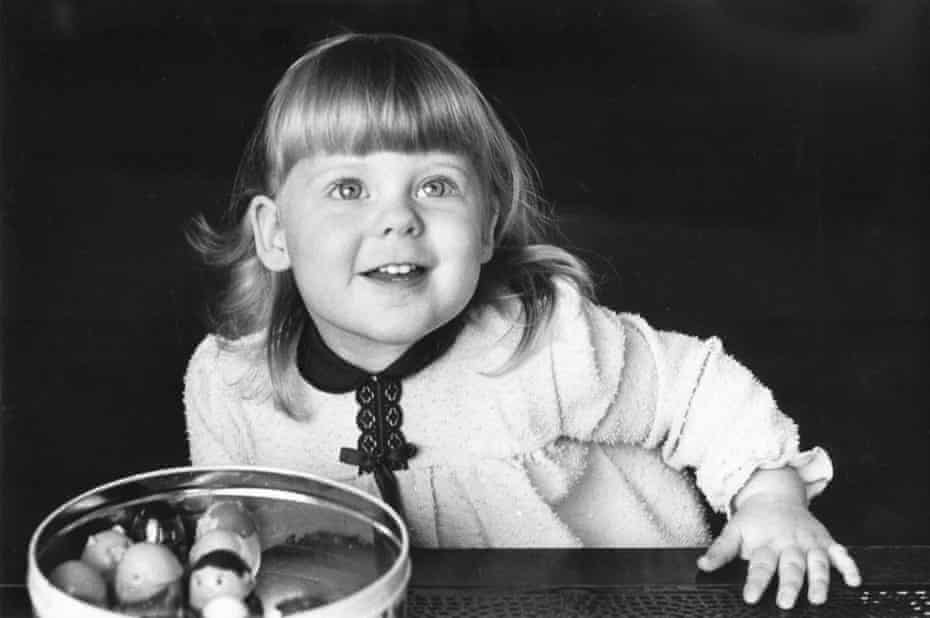 Louise Brown, the first child to be born as a result of in vitro fertilisation, at 20 months old in March 1980.