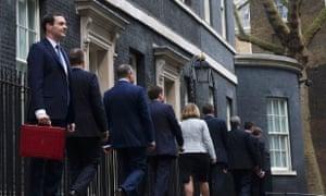 Osborne outside number 11 Downing Street