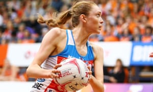 British netball player Helen Housby in action for Australia's NSW Swifts earlier this month