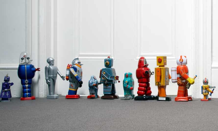 toy robots lined up outside childs bedroomGettyImages-82567354