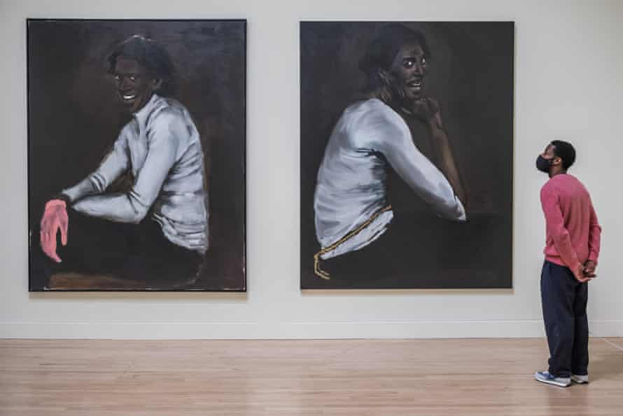 Wrist Action, left, and Bound over to Keep the Faith, both 2010 by Lynette Yiadom-Boakye at Tate Britain.