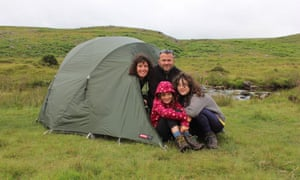 A spot of wild camping on Dartmoor.