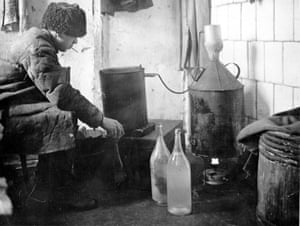Home made spirit 'Samogon', a precious commodity in post revolutionary Russia. Its production, although illegal, was in progress until early 1930's.