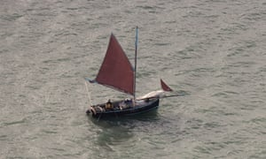 The Alf Smythers, the sailing boat used to gather river Fal oysters.